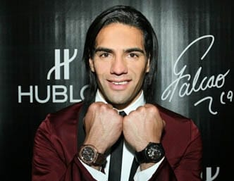 Falcao Wearing Hublot