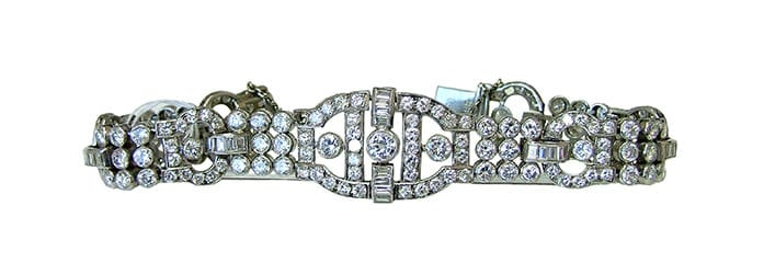 Cartier Art Deco diamond link bracelet