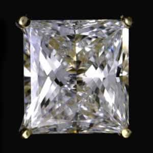 2ct. princess cut diamond earring stud