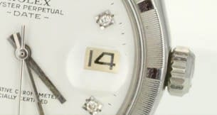 Date magnifying cyclops in genuine Rolex