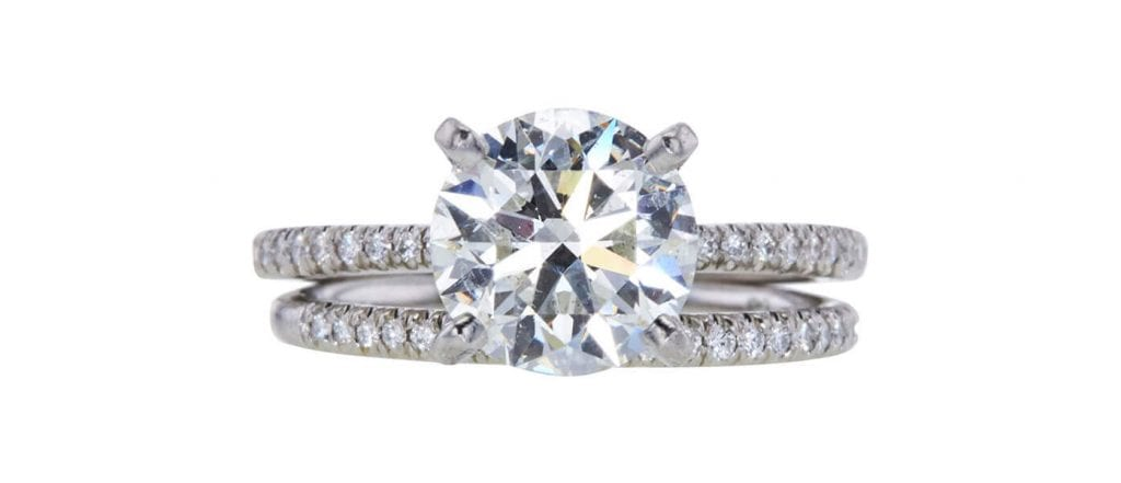GIA 2.01 CT Round Cut Bridal Set, sold at Worthy for $7,766.