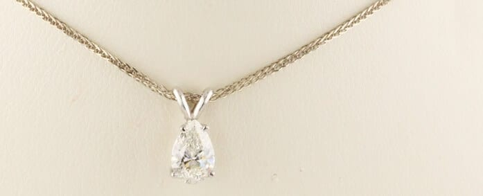 Pear diamond necklace bridal set wow at auction for 10305 mozeypictures Images