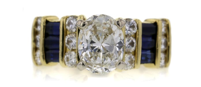 Diamond and Sapphire Engagement Ring Auctioned at Worthy for $3,042