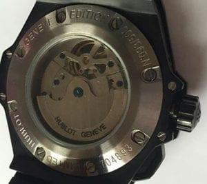 fake Hublot back