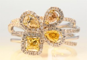 Yellow Diamond Blossom Ring - Worthy Auctions