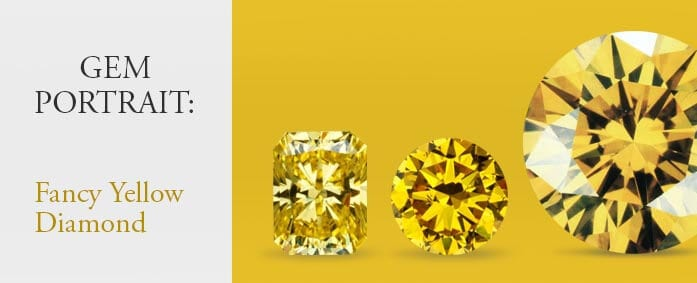 Gem portrait: Fancy Yellow Diamonds