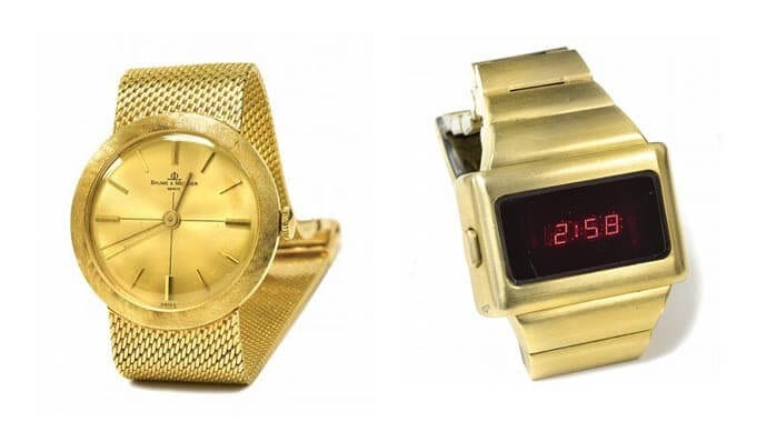Elvis Presley gold watches