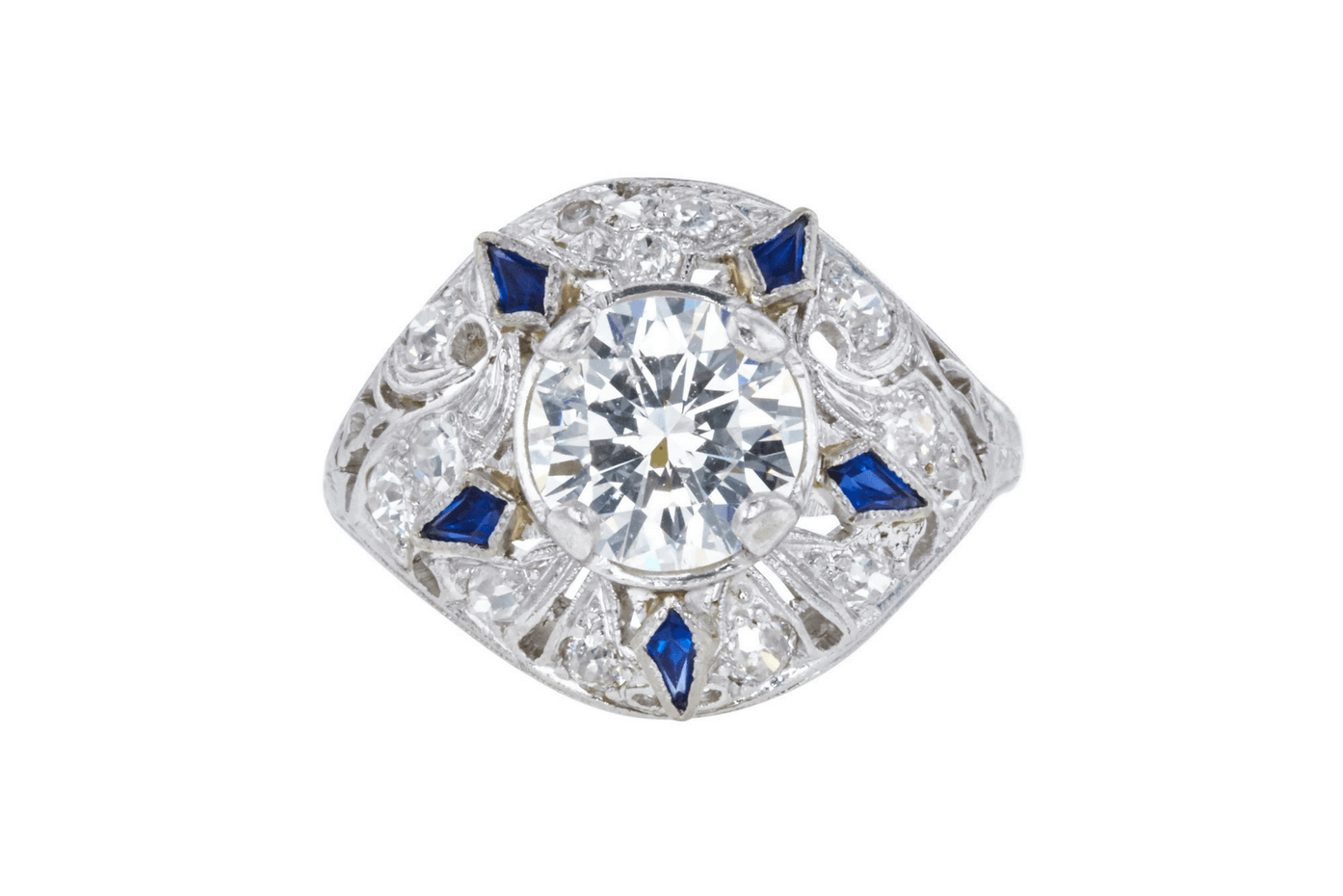 Antique GIA 1.5 CT Round Cut Solitaire Ring, Sold at Auction for $4,016.