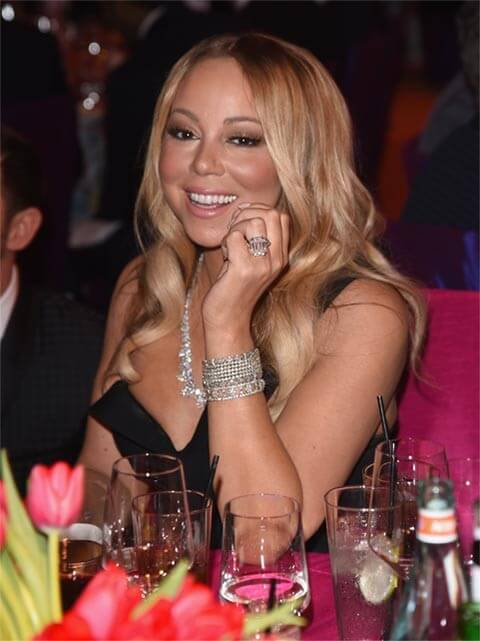 WEST HOLLYWOOD, CA - FEBRUARY 28:  Singer Mariah Carey attends Bulgari at the 24th Annual Elton John AIDS Foundation's Oscar Viewing Party at The City of West Hollywood Park on February 28, 2016 in West Hollywood, California.  (Photo by Venturelli/Getty Images for Bulgari)