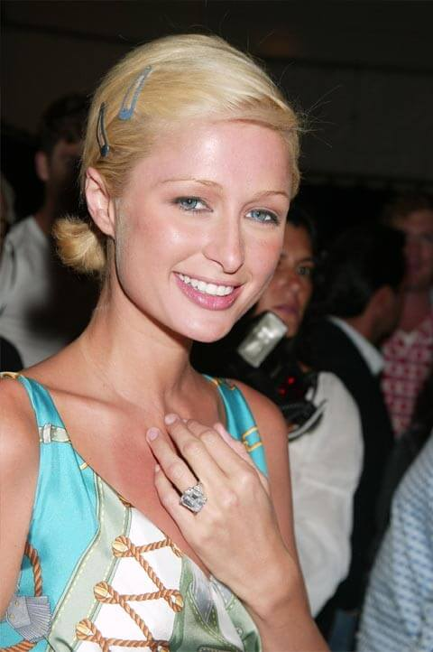 Paris Hilton's 24 carat emerald cut diamond engagement ring