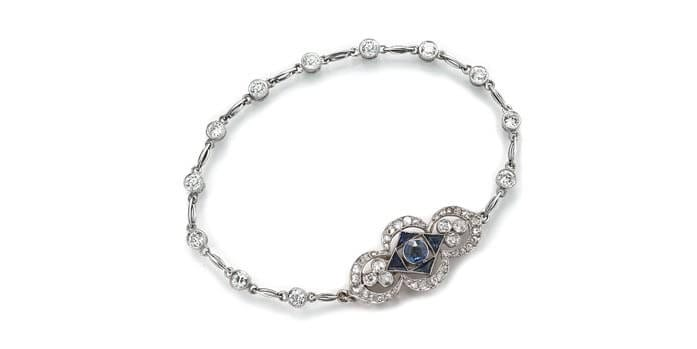 The author's custom-made bracelet with an Edwardian clasp