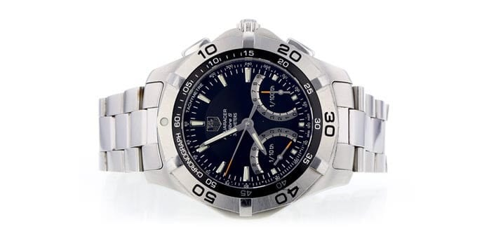 TAG Heuer Aquaracer watch recently auctioned at Worthy.