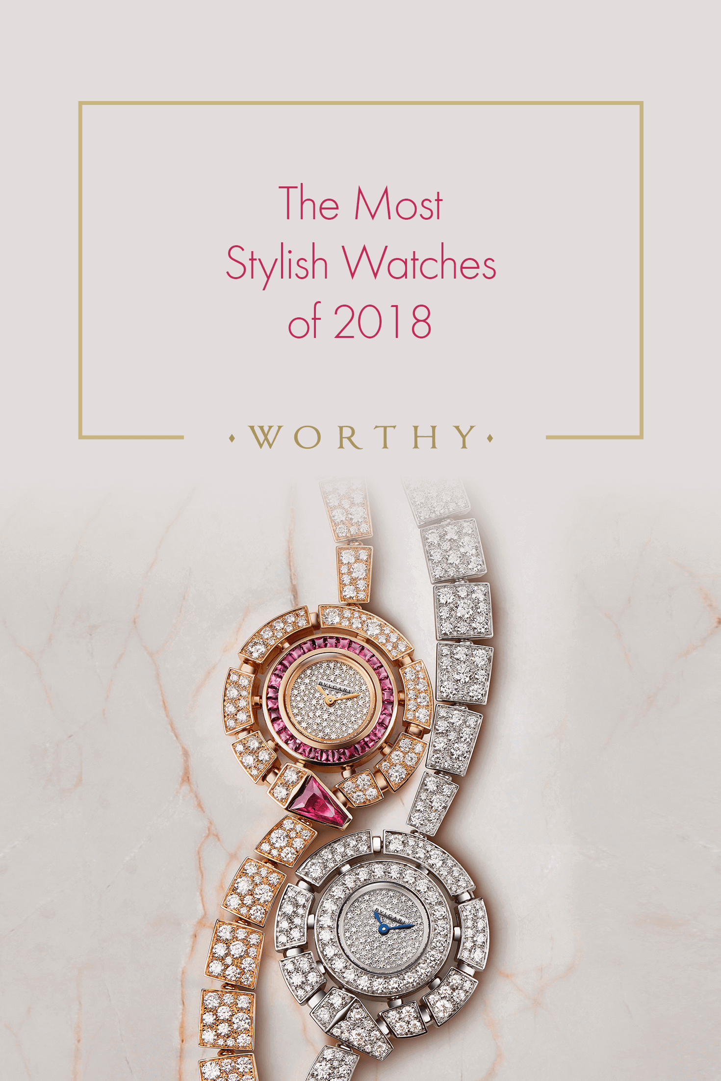 What are the most fashionable watches in 2018? Here you'll find a list of the most stylish watches out there. Check them out and get inspired!