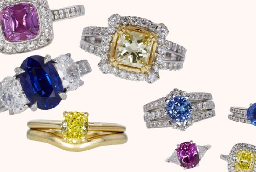 Stunning Colored Rings Auctioned at Worthy