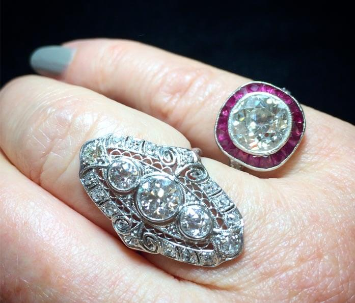 These antique engagement rings are as fashionable as they are beautiful.