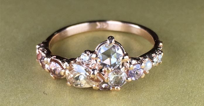 Diamond ring by Melanie Casey.
