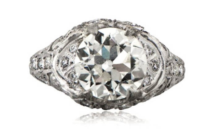 Art Deco Engagement Ring from M. Khordipour.