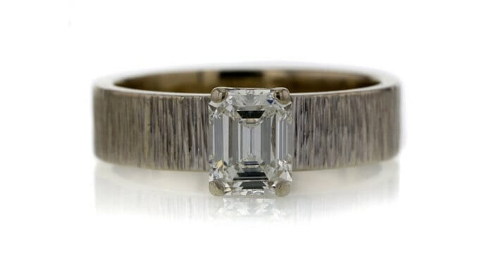 1.00 CT Emerald Cut Solitaire Ring sold at Worthy for $1,710