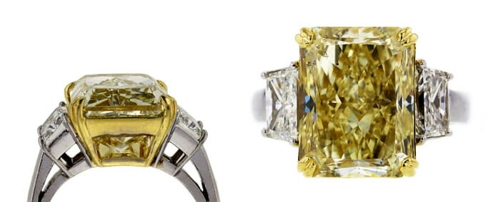 A Stunning Fancy Yellow Diamond Arrives for Auction!