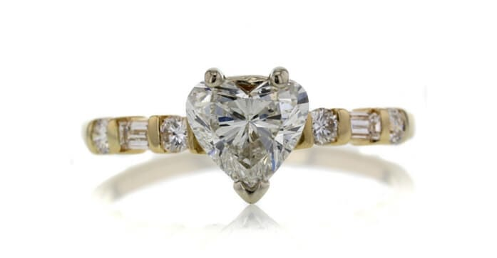 1.29 CT Heart Cut Solitaire Ring sold at Worthy for $2,844