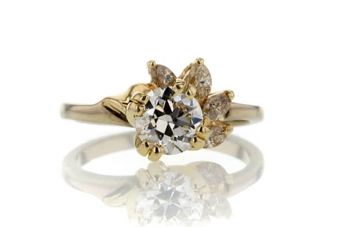 .88 CT European Cut Solitaire Ring sold at Worthy for $1,116.