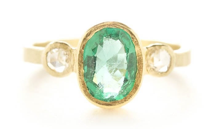 Emerald ring by Jennifer Dawes.