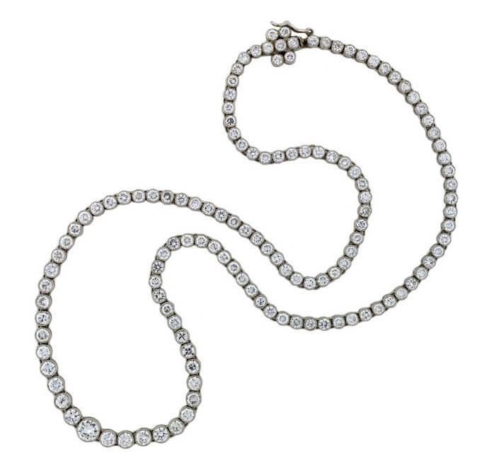 Diamond Riviere necklace by A. Brandt and Sons.