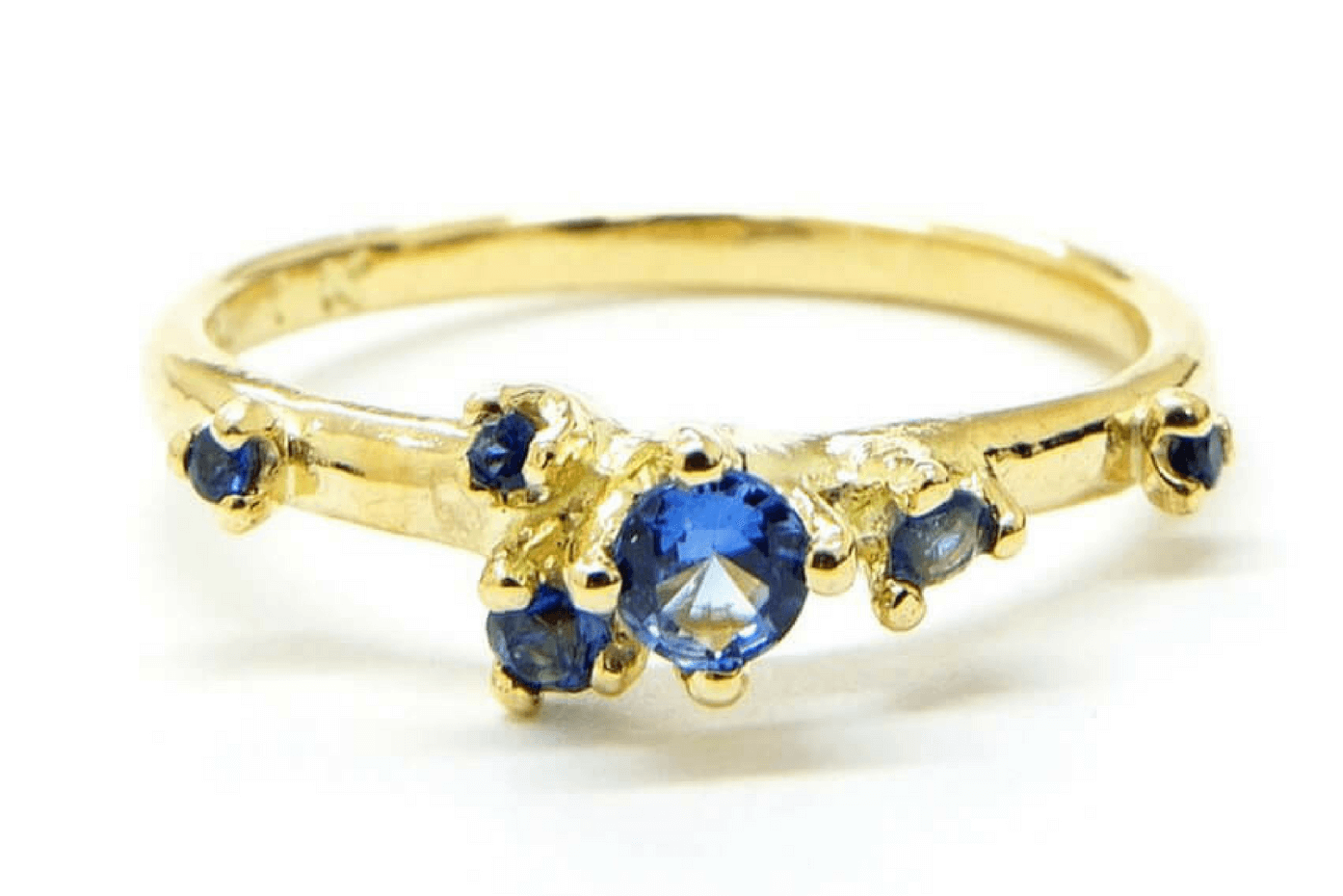 18K Yellow Gold Ring with Blue Sapphire by n+a new york