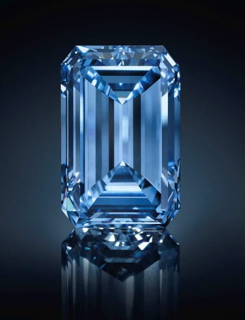 The Oppenheimer Blue Diamond. Photo courtesy: Christie's.