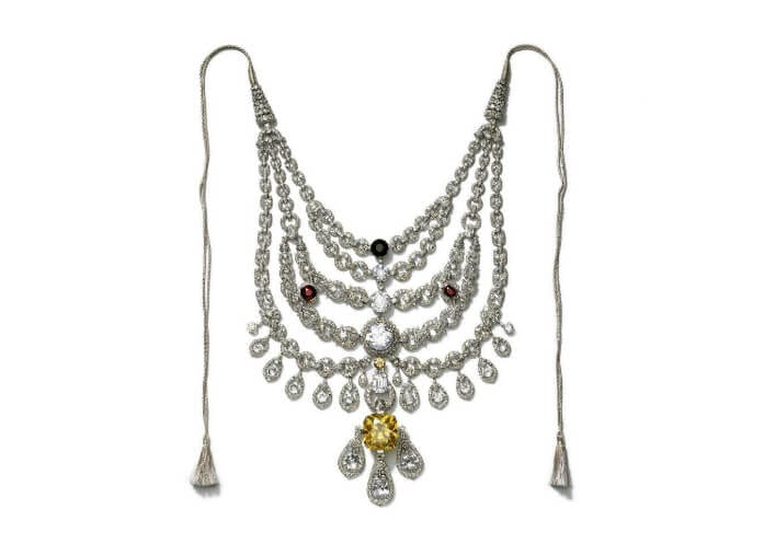 The yellow diamond Patiala necklace