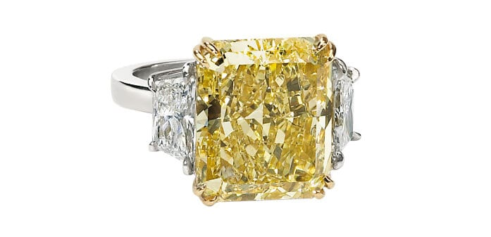 large Yellow Diamond recently auctioned at Worthy