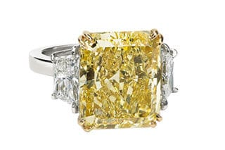 This inherited 10.01 CT Fancy Yellow Diamond ring was recently sold at Worthy for $78,185! Learn more.