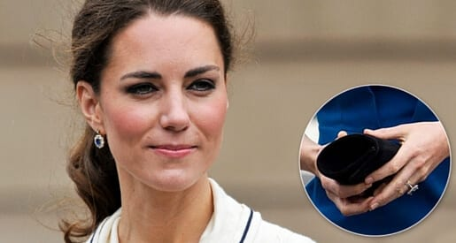 The Duchess of Cambridge and her sapphire engagement ring.