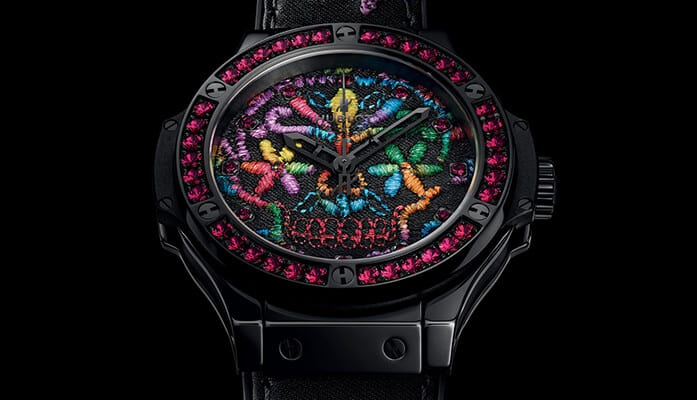 Reference 343.CS.6599.NR.1213. Image source: http://www.hublot.com/en/collection/big-bang/big-bang-broderie-sugar-skull-ceramic-41?serie=59