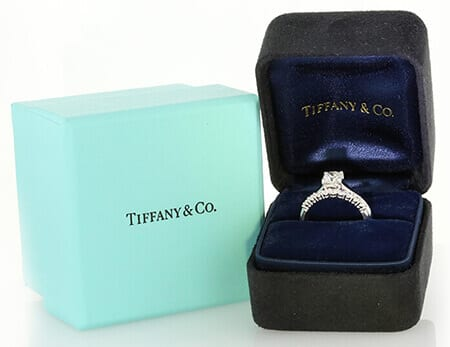 Tiffany & Co diamond engagement ring.