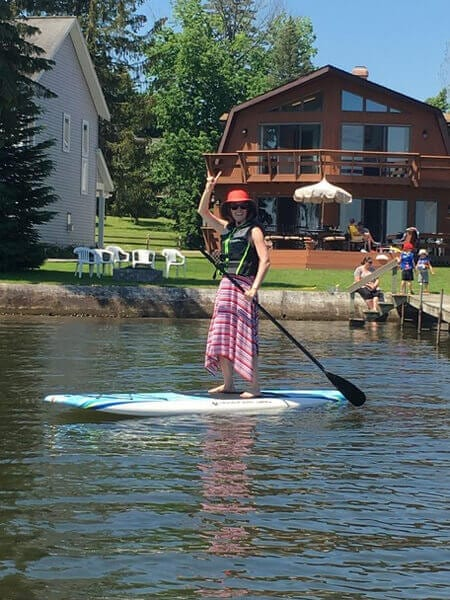 I love to exercise, especially paddle boarding.