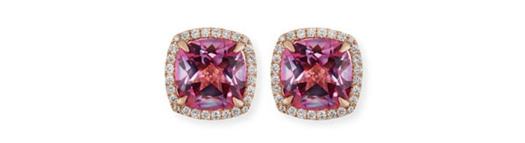 Frederic Sage Pink Topaz Stud Earrings. Source: Neiman Marcus