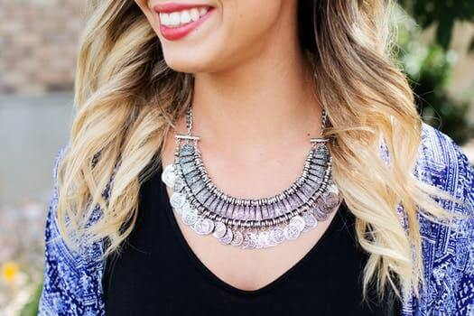 bold silver necklace - trend 2017
