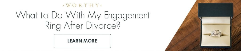 What to do with your engagement ring after divorce