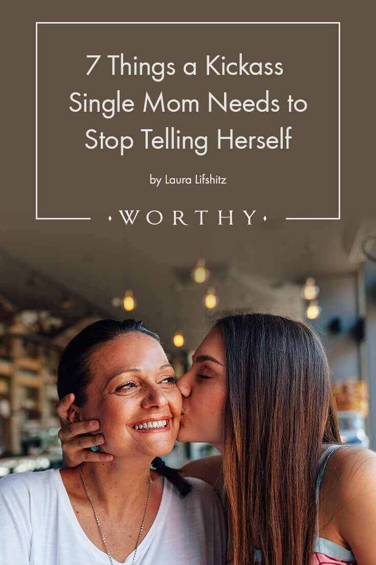 As mothers, we're constantly tearing ourselves apart. And as single moms, we seem to take on extra guilt and expectations for ourselves.
