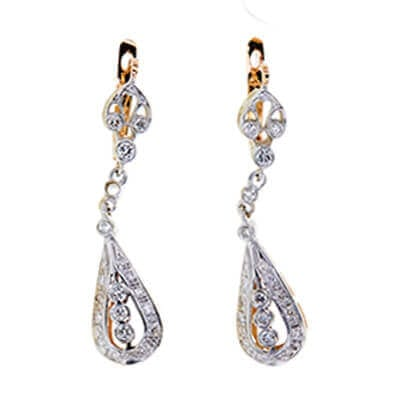 Diamond Chandelier Earrings. Image source: Worthy