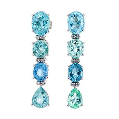 Blue Tourmaline Drop Earrings. Image source: Worthy