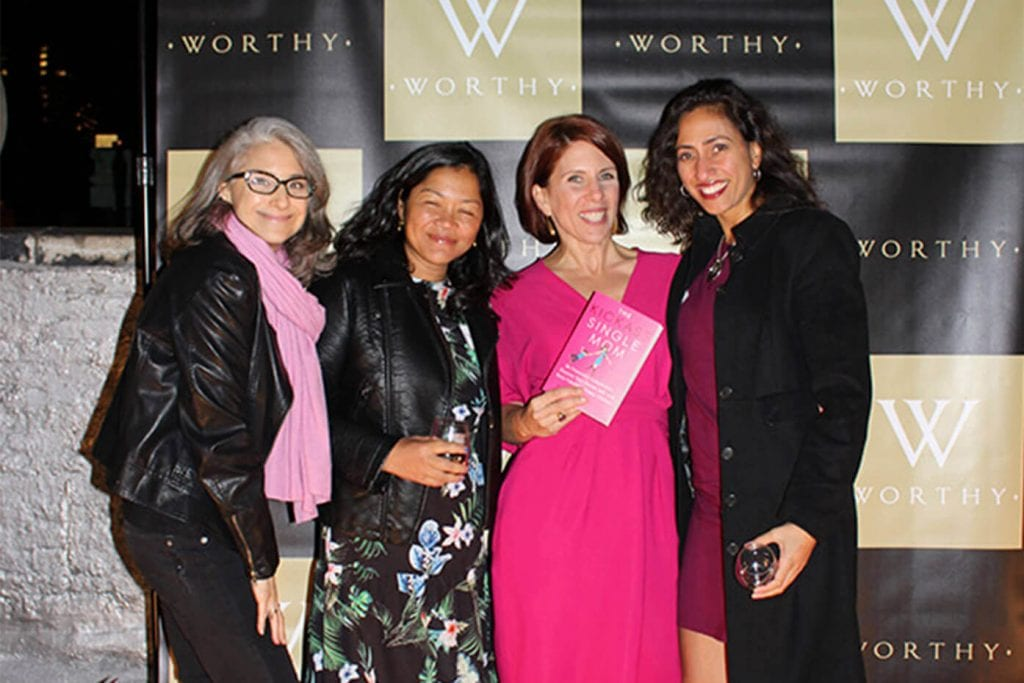 Emma Johnson's book launch party at Worthy's office rooftop in NYC. October 17, 2017.