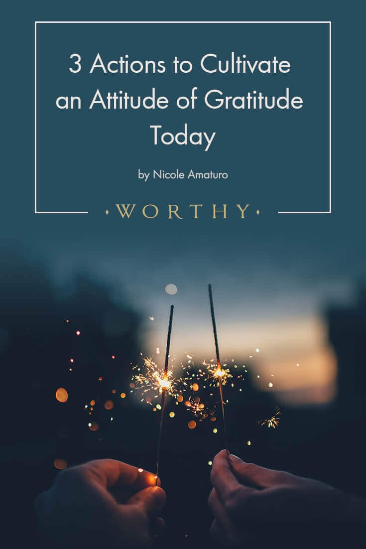 When we switch from a scarcity mindset an abundant mindset, we attract positive things into our lives. These three steps will help you cultivate gratitude.
