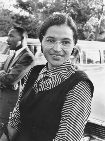 Rosa Parks with Dr. Martin Luther King jr. (ca. 1955)