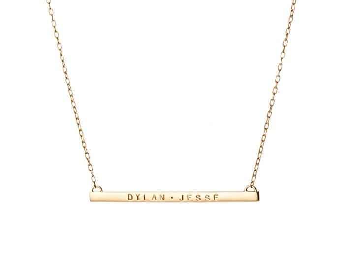 2IN. Skinny Tag Necklace by Jennifer Fisher