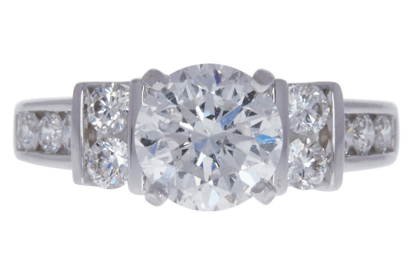 GIA 1.52 CT Round Cut Solitaire Ring