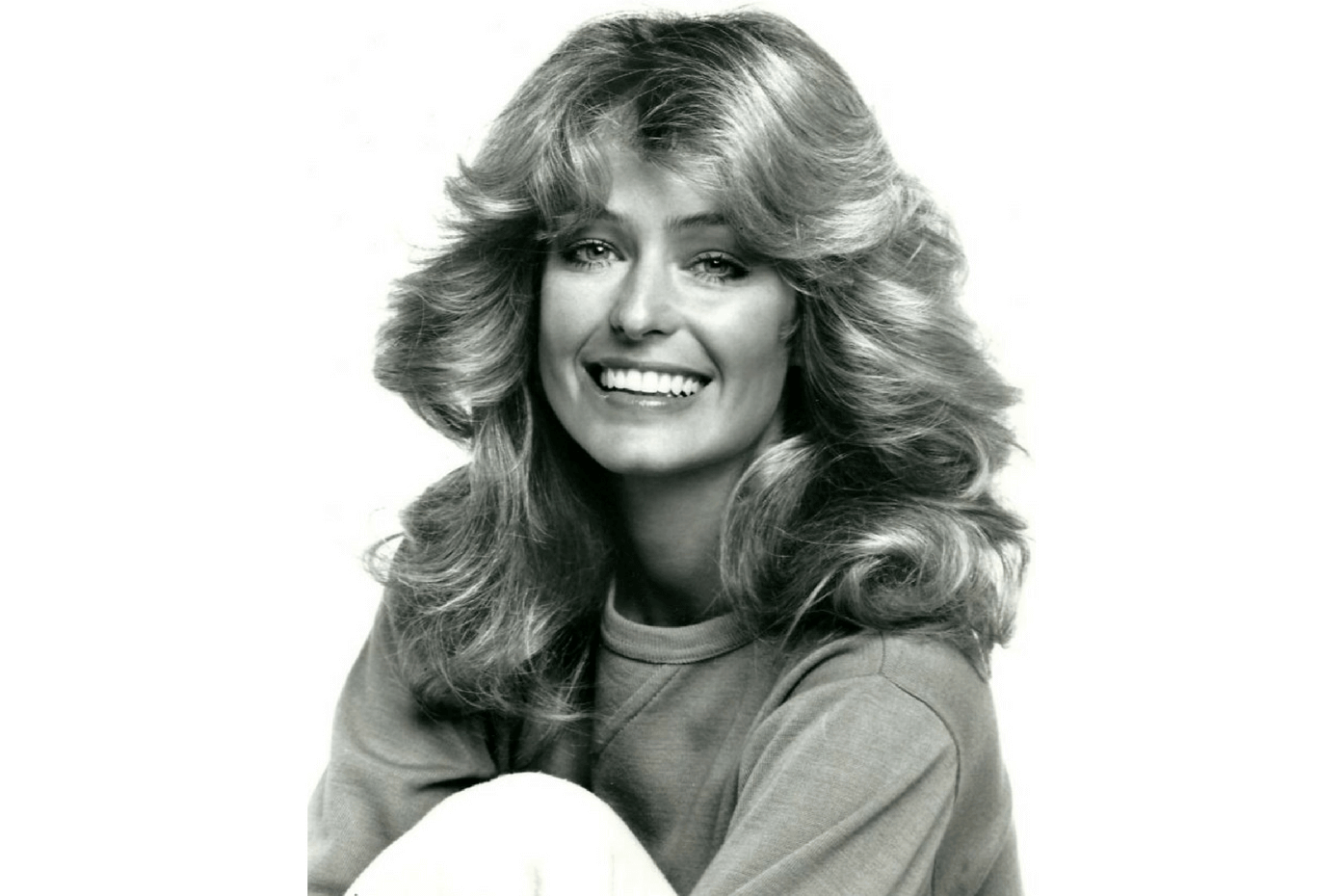 Farrah Fawcett's feathered hairdo helped her become a 1970s style icon.