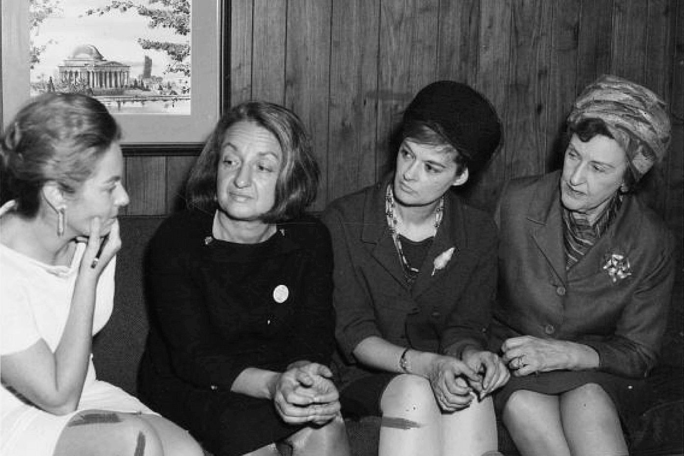 National Organization for Women (NOW) leaders meet in 1968.