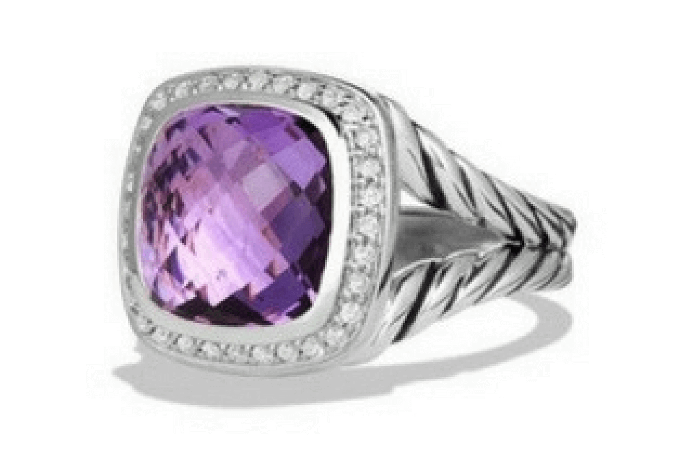 David Yurman Amethyst and Diamonds Ring. Source: Nordstrom.